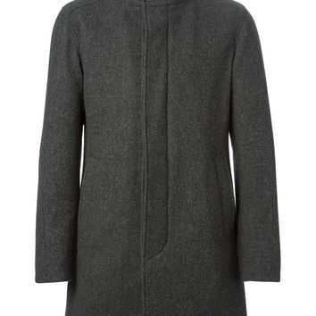 Herno tweed funnel neck coat