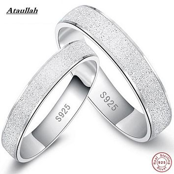 Ataullah Hot 925 Sterling Silver Scrub Rings For Women And Men New Fashion Trendy Jewelry Accessories Ring 925 Silver RWD704