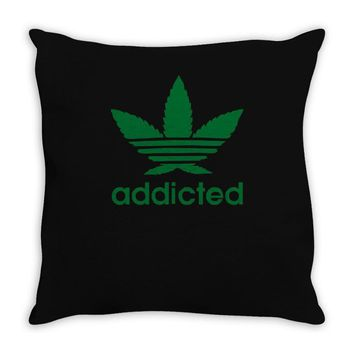 addicted ~ mens funny Throw Pillow
