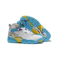 Air Jordan 8 Retro ¡°White Aqua¡± Men Sneaker