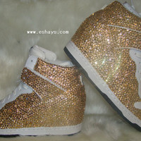 Custom Topaz Color Nike Wedges