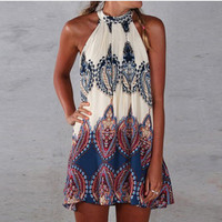 Sexy Women Summer Boho Maxi Dress Beach Dress Sundress Mini Dress = 4904731844