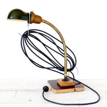 Industrial Lighting // Gooseneck Metal Task Lamp
