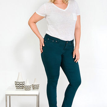 Junior Plus Size Color Coded Skinny Jean