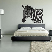 Wall Vinyl Sticker Decals Decor Art Bedroom Design Mural Zebra animal horse (z080)