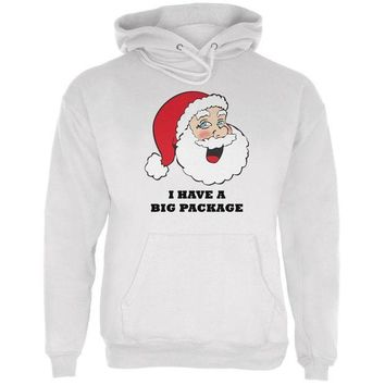 LMFON Christmas Santa I Have a Big Package Funny Mens Hoodie