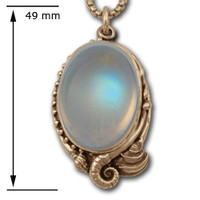 Sealife Pendant in 14k Gold, Moonstone-Jewelry.com