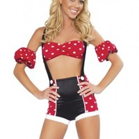 4 PC Pinup Mouse Costume @ Amiclubwear costume Online Store,sexy costume,women's costume,christmas costumes,adult christmas costumes,santa claus costumes,fancy dress costumes,halloween costumes,halloween costume ideas,pirate costume,dance costume,costume