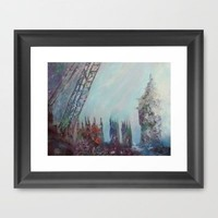 London Fog - redeaux Framed Art Print by Catherine Holcombe | Society6