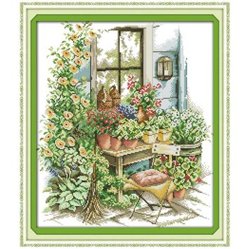 Cross Stitch kit Spring Garden Patterns Counted Cross Stitch DIY 11CT 14CT