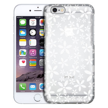 Apple iPhone 6 Plus Floating White Daisys Clear Case
