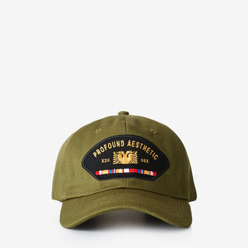 Altimeter Six Panel Patch Cap in Olive
