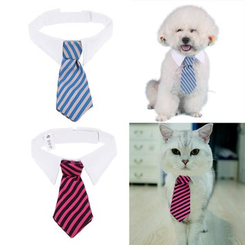 1pcs Striped Pet Tie High Quality Puppy Necktie Collar for Dog Cat Gentleman Dog Necktie Pet Accesories