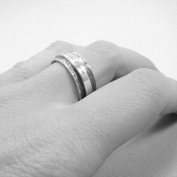 Personalized Ring   -  Spinner Ring  -  Silver Engraved Jewelry - Graduation Gift