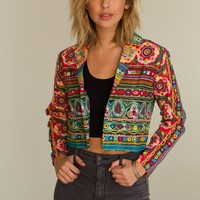 Psychedelic Embroidered Blazer