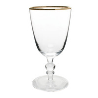Willow Wine Goblet with Gold Rim
