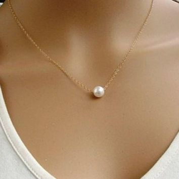 sweet pearl pendant necklace gift box  number 1