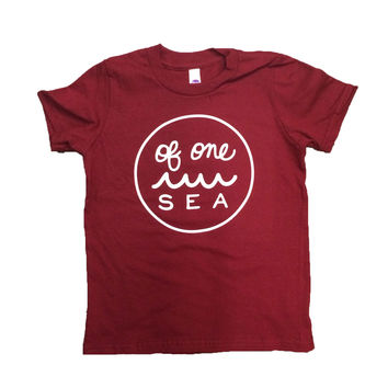 Kid's Cranberry T-Shirt with Logo in White
