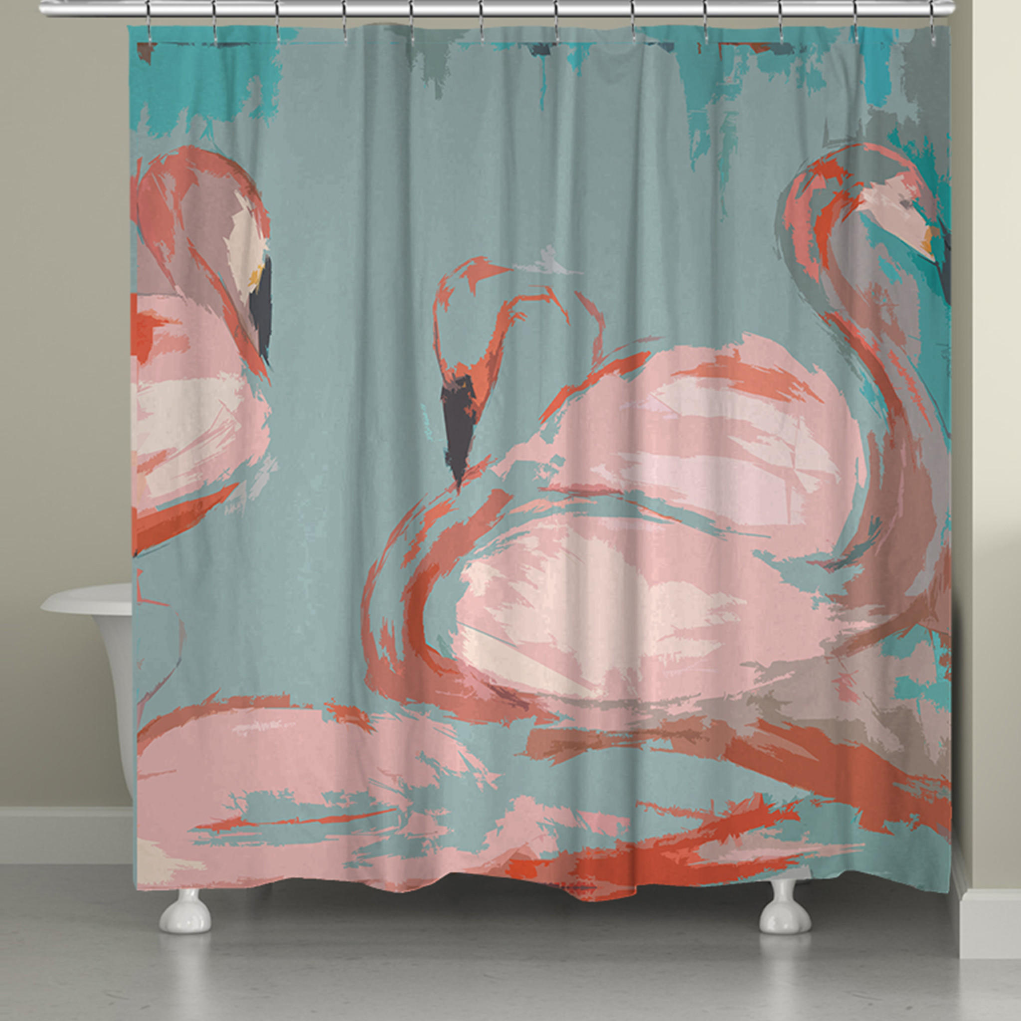 Flamingos Shower Curtain From Laural Home