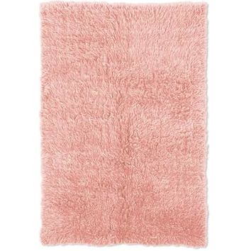 Linon Flokati Rug In Pastel Pink And Pastel Pink 2.4 x 4.3
