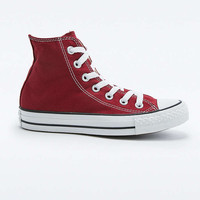 Converse All Star Chuck Taylor Maroon High-Top Trainers - Urban Outfitters