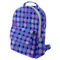 Confetti Polka Dots Flap Pocket Backpack (small)