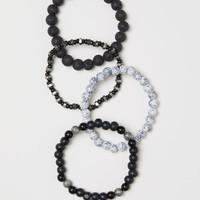 4-pack bracelets - Black/multicolored - Men | H&M US