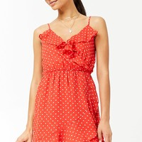 Polka Dot Flounce Dress