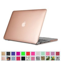 "Fintie MacBook Pro 13 Case (Non-Retina) - Ultra Slim Lightweight Hard Cover Snap On Protective Case for MacBook Pro 13.3"" WITH CD-ROM Drive (A1278), Rose Gold"