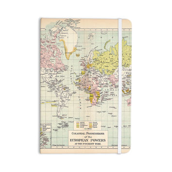 "Catherine Holcombe ""Travel"" World Map Everything Notebook"