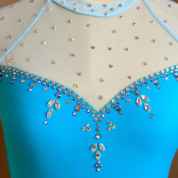 Custom Frozen Elsa Figure Skating Dress Costume/ Baton Twirling Costume/ Competition Dance Dress-Ready to Ship!