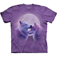 The Mountain LOVING WOLVES T-Shirt S-3XL Kissing Love Wolf Tee NEW!
