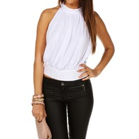 Promo-sleeveless Mock Neck Top