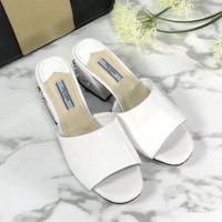Prada Women Fashion Casual Heels Shoes Slipper Shoes