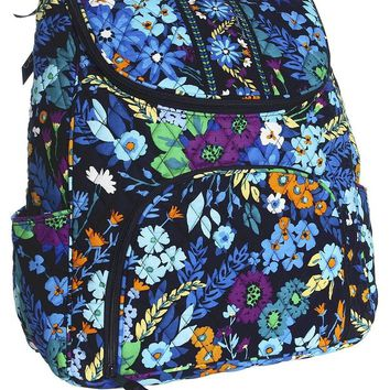 Vera Bradley Double Zip Backpack Midnight Blues
