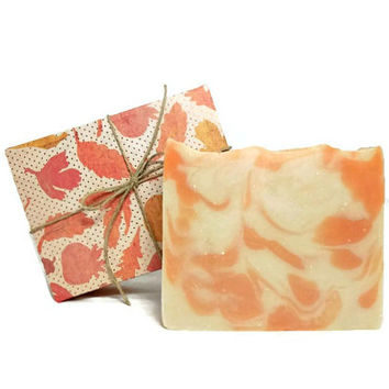 Apricot Soap, Handmade Soap, Cold Process Vegan Soap, Gift under 10