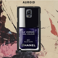 Chanel Nail Polish Blue Satin Samsung Galaxy Note 4 Case Auroid