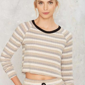 Give It a Rest Ribbed Lounge Top