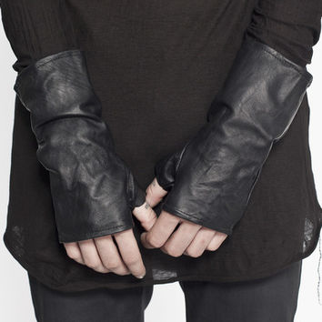 Mens Washed Leather Gloves