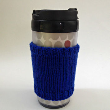 Coffee cozies, coffee cup sleeve, knit coffee cozy, knitted coffee cozy, coffee accessories, blue coffee mug, coffee sleeve, coffee cozy