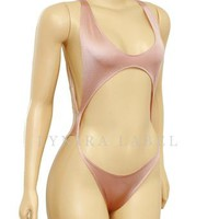 Dusty Pink Cut Out Swimsuit