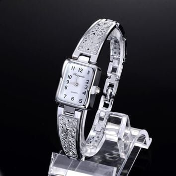 ON SALE - Art Deco Filigree Ladies Watch Silver or Gold