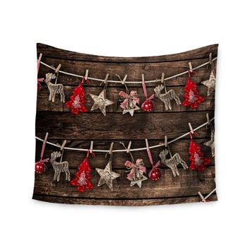 "Snap Studio ""Hanging Around"" Brown Red Wall Tapestry"