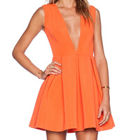 AQ/AQ Vicious Mini Dress in Orange