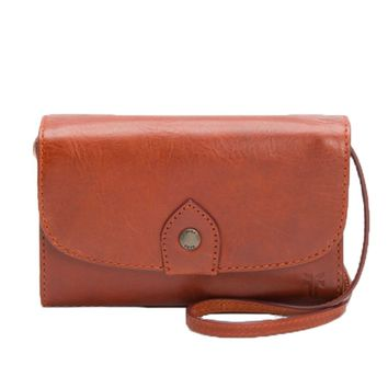 Frye Melissa Wallet Crossbody Bag Red Clay DB354