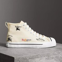 Burberry LF Kingly Arc Canvas High-Top Sneakers NMS18 X48SA