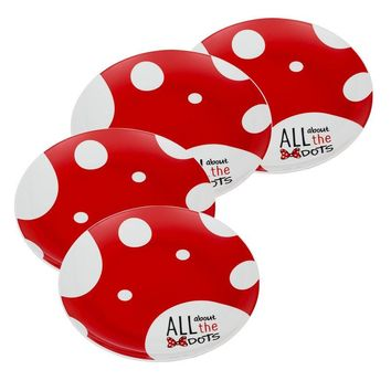 Minnie Mouse 4pc. 10 inch Ceramic Dinner Plate Set