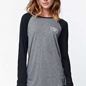 Vans Authentic Raglan T-Shirt - Womens Tee - Grey