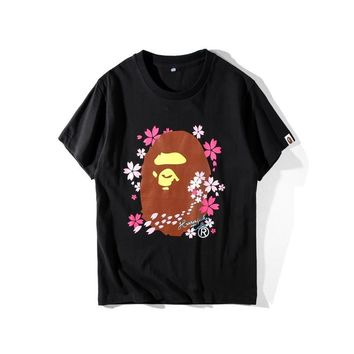 Short Sleeve Summer Cartoons Couple Round-neck T-shirts [211444924428]