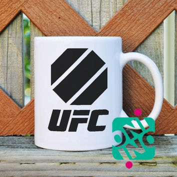 UFC Octagon Logo Coffee Mug, Ceramic Mug, Unique Coffee Mug Gift Coffee